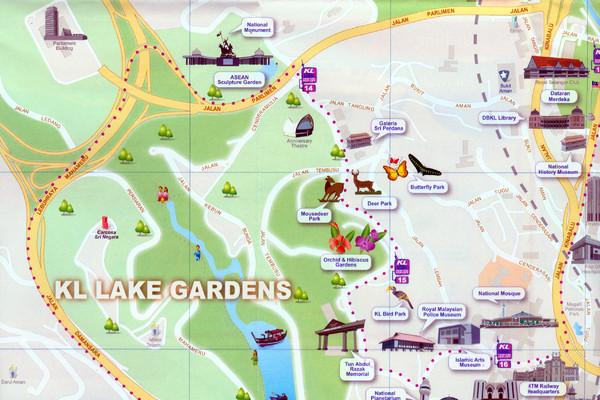 Kuala Lumpur Lake Gardens Map Kuala Lumpur Malaysia