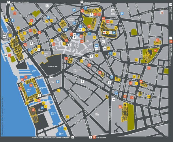 Map of Liverpool Liverpool Maps Mapsofnet