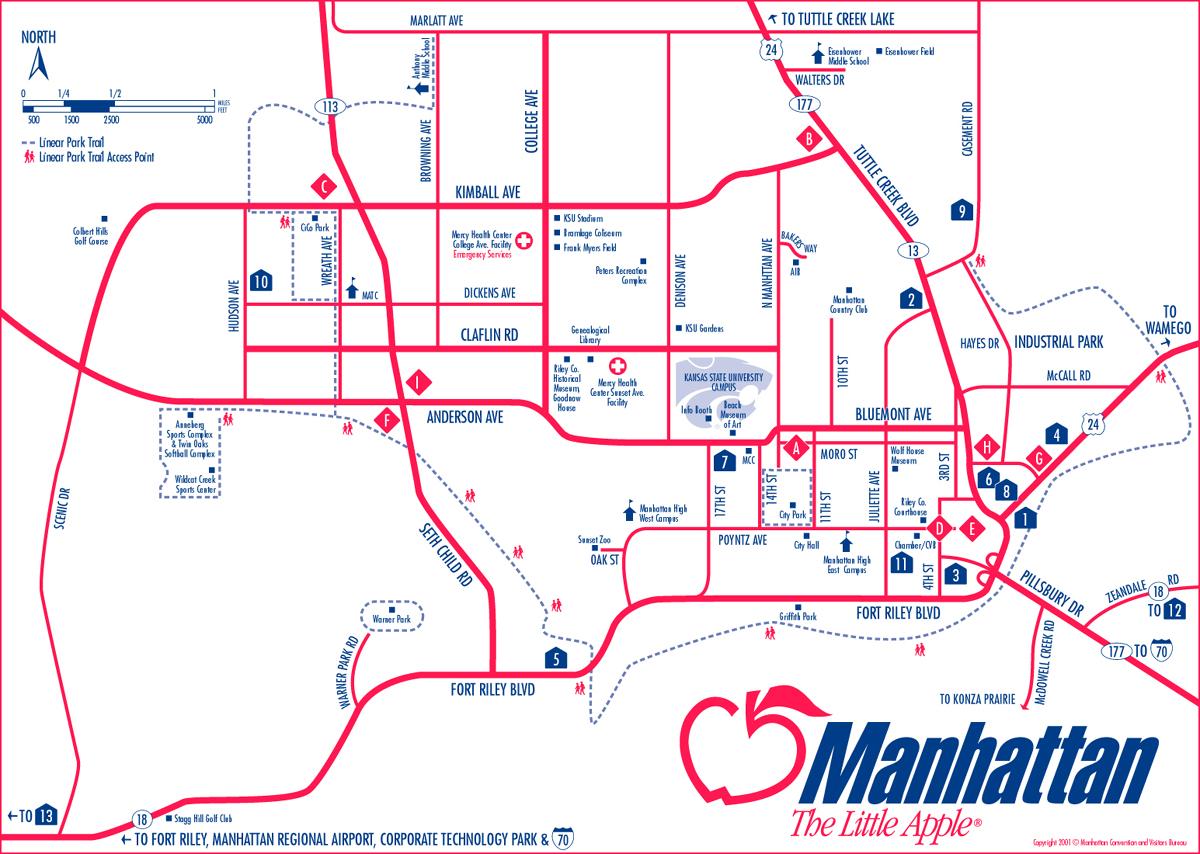 Manhattan Kansas City Map - Manhattan Kansas • mappery