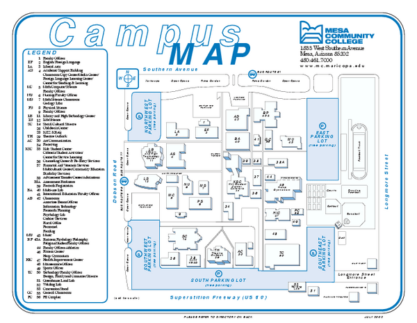 MCC Dobson Campus Map page 3  Pics about space