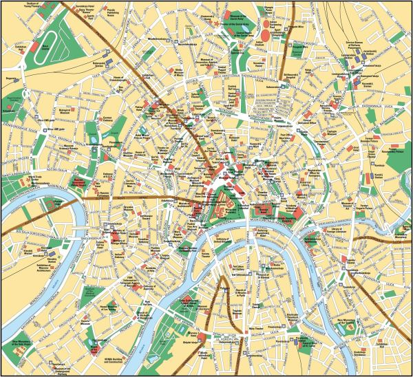 Moscow Map Moscow Russia mappery