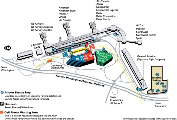 Reagan National Airport DCA Map DCA Airport mappery