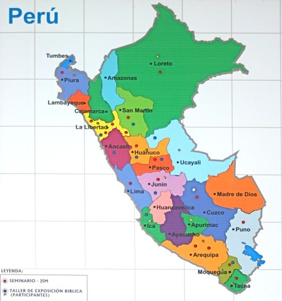 Regions of Peru Map mappery