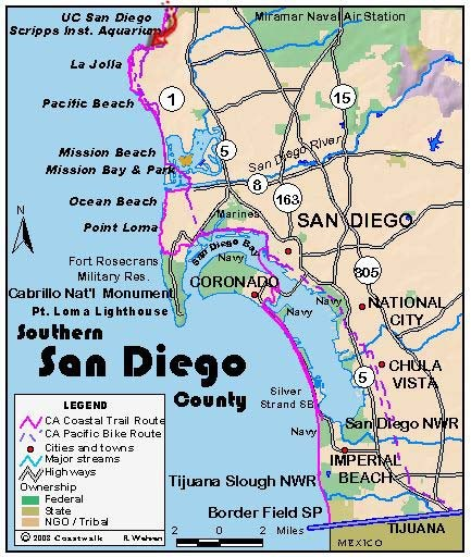 San Diego Beach Map San Diego • Mappery