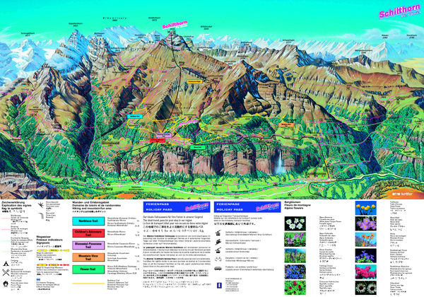 Schilthorn Summer Trail Map Schilthorn Switzerland • Mappery