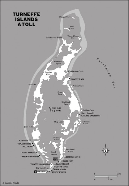 Turneffe Islands atoll Map • mappery