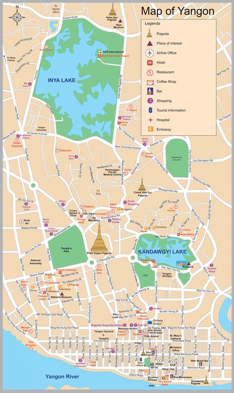 Yangon Map  Yangon  mappery