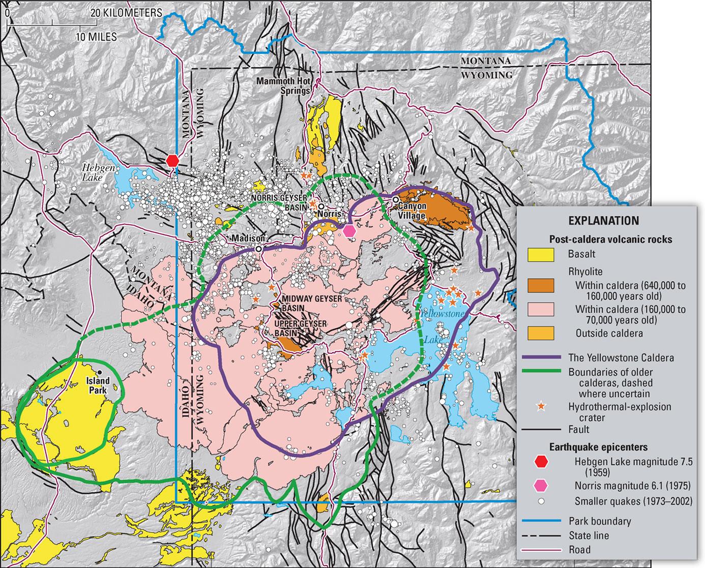 Yellowstone Geologic Map