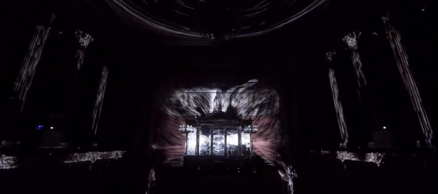 Уникальный 3D mapping внутри здания Чешской филармонии