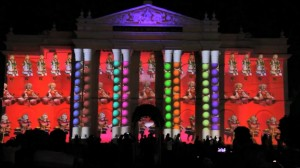 Видеомэппинг на индийском фестивале Mysore Dasara