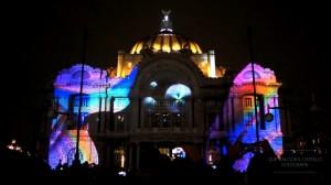 3D mapping на фасад Дворца изящных искусств