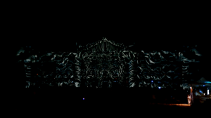 3D mapping на фасаде Дебреценского Университета