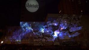 Фантастическим симбиоз уличного граффити и 3D mapping