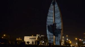 """Архитектурный 3D mapping на """"Памятник Делу Революции"""""""
