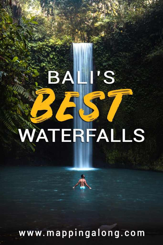 The best bali waterfalls infographic
