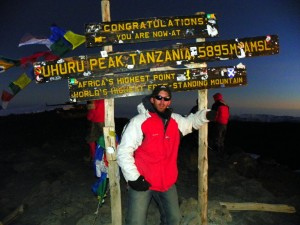 The summit of Mt Kilimanjaro!