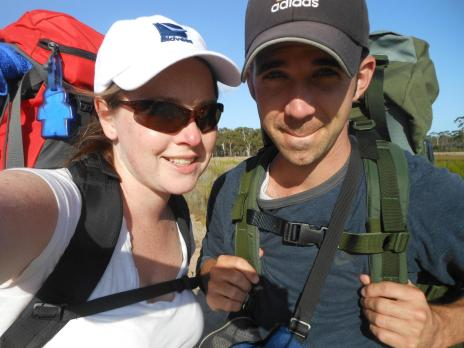 Backpacking through Australia.