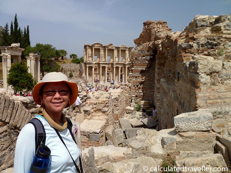 Wandering the Ruins of Ephesus in Turkey.