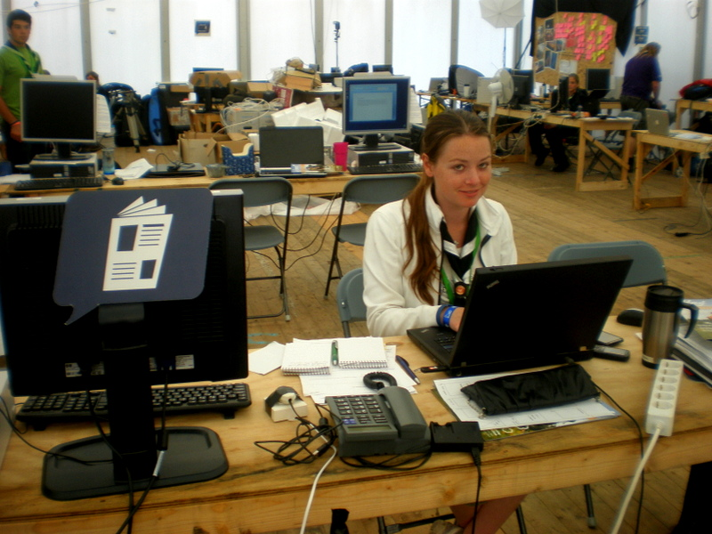 Volunteering in Sweden; I was Editor in Chief of the World Scout Jamboree Magazine!