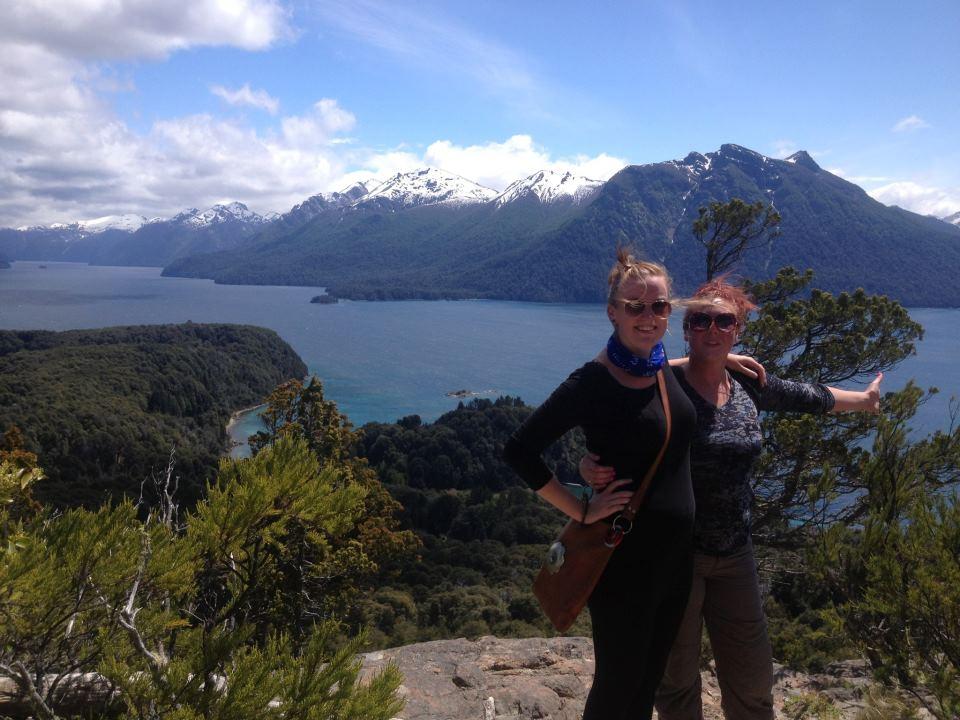 Making volunteering friend in Bariloche, Argentina