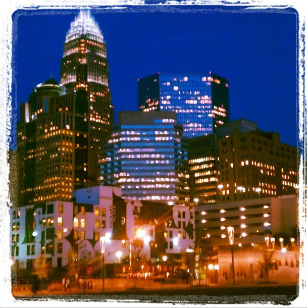 Did I mention I was in love with the city of Charlotte? The skyline is absolutely magical once evening hits - we walked for 5 minutes from our hotel for this view!