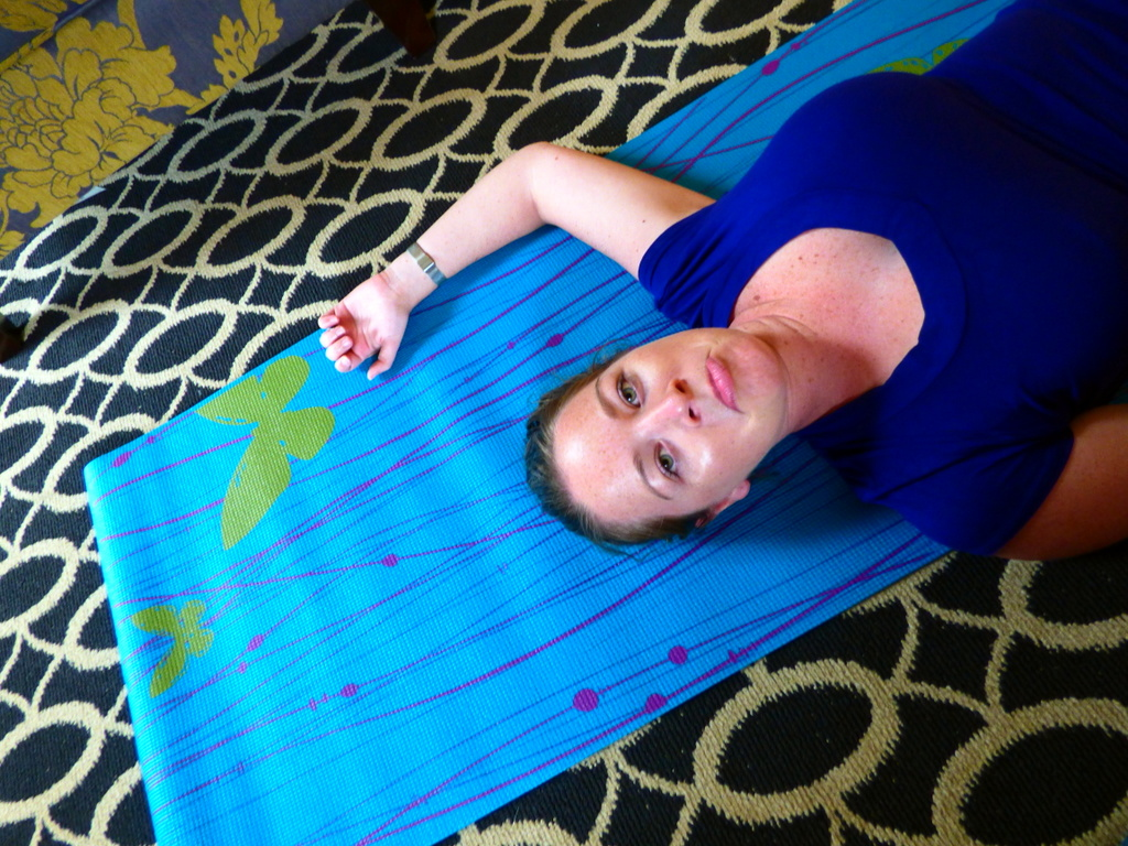 Yoga mats provided in every room