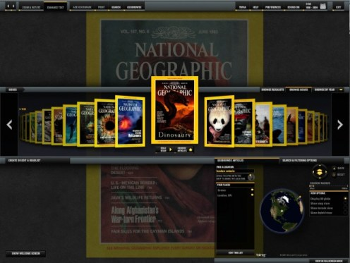 The complete National Geographic. Screencapture by Brad Moon