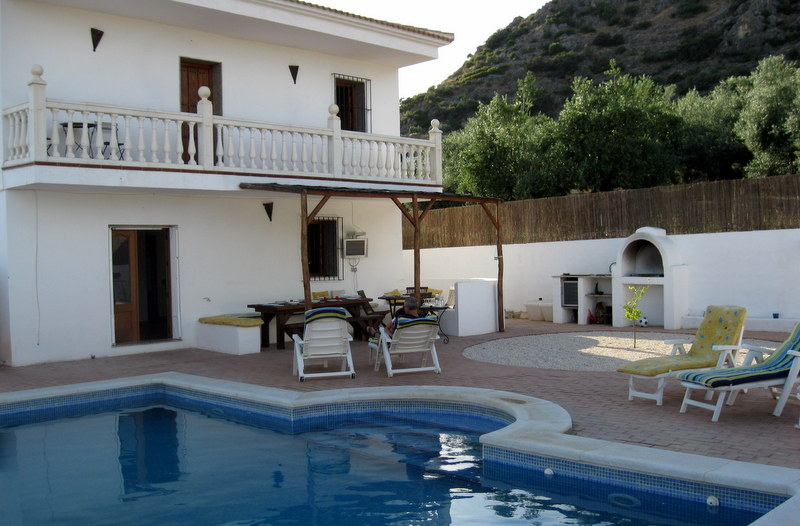 "This is our casa in La Celada in the ""middle of the olives"", as they called it."