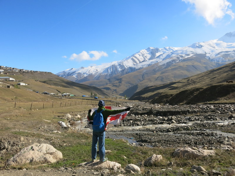 Backpacking in the mountains of Xineleq, Azerbaijan.