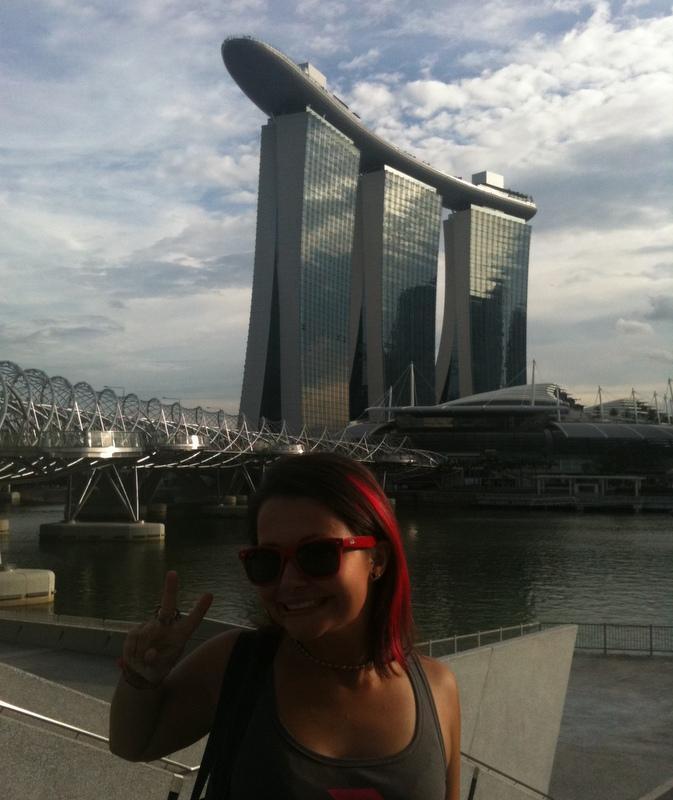 Marta from Gap Year Travel Journal.  Marina Bay Sands, Singapore.