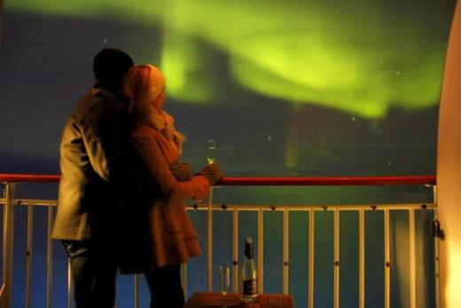 """I have kissed a West Coast girl underneath the Northern Lights"" - Mike Howard of Honey Trek."