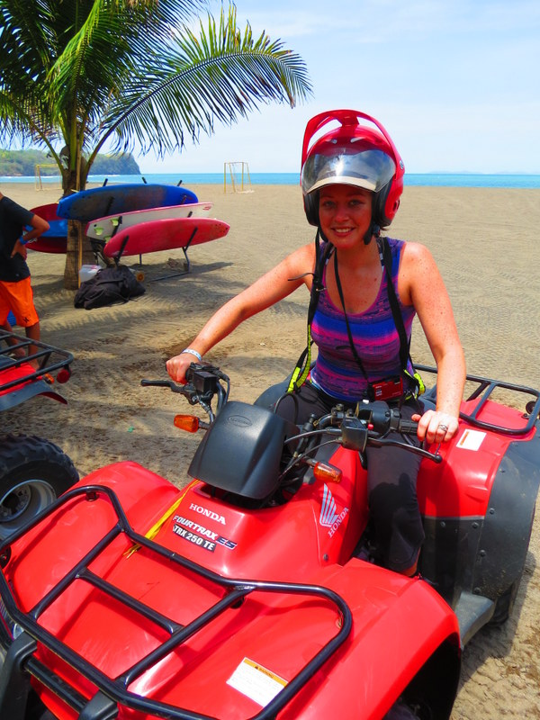 Quad biking from the hotel beachfront.