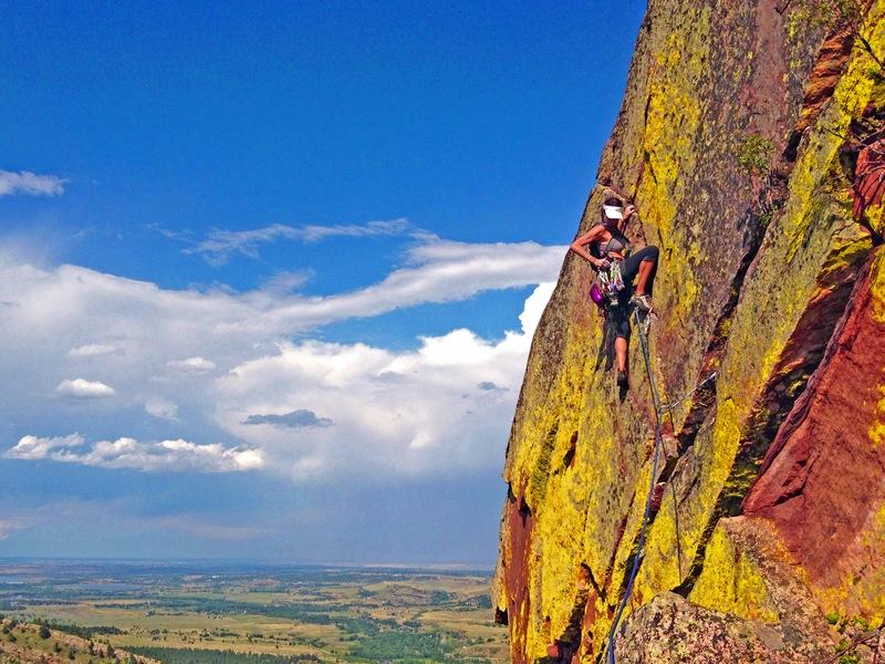 Me climbing in Boulder