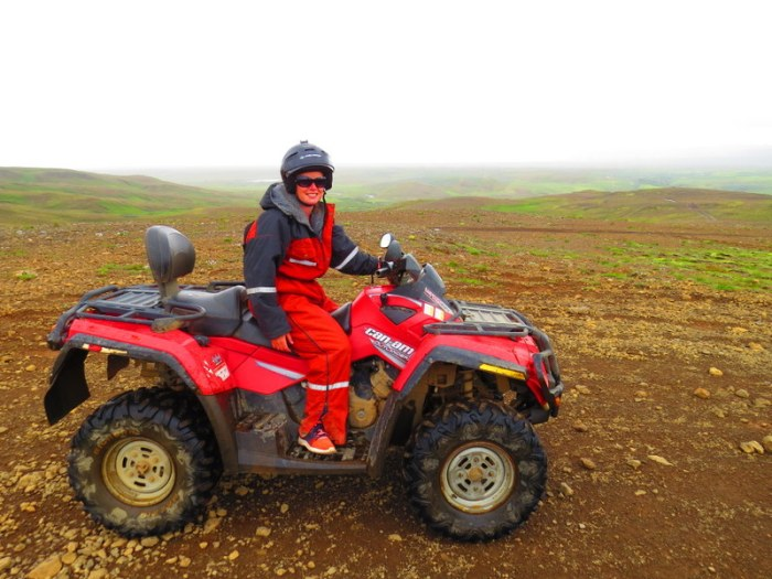 Quad biking through the Icelandic Outback.