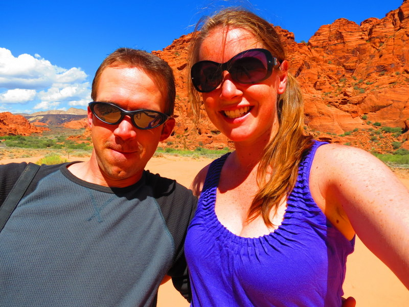 Exploring Snow Canyon State Park.