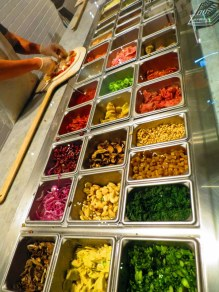 Choose your pizza ingredients - everything is fresh!