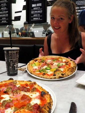 HUGE pizza pies!