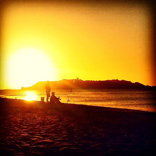 Fishermen on the beach in Yallingup Australia