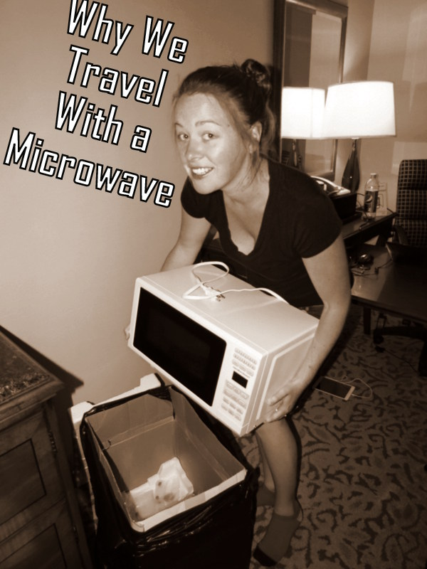 How to travel with a microwave