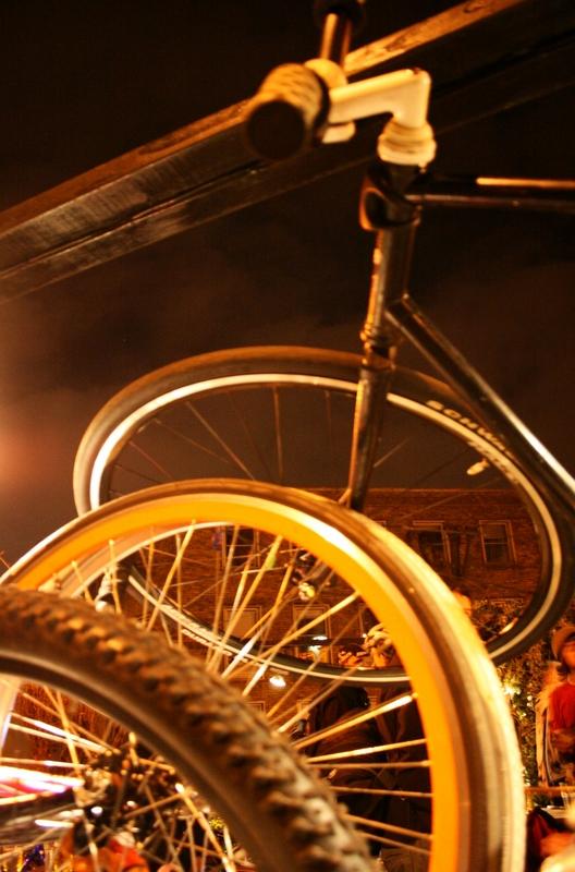 Bike accident.