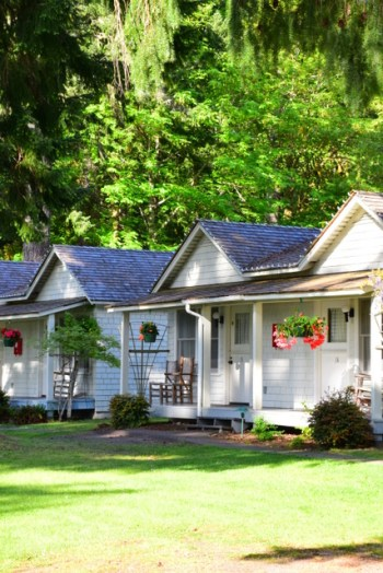 Historic cottages on the spectacular Lake Crescent.