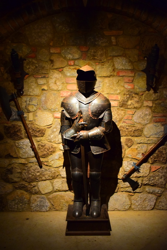 The torture chamber at Castello di Amorosa. An Authentic 13th-century Tuscan-inspired Castle in Napa Valley.