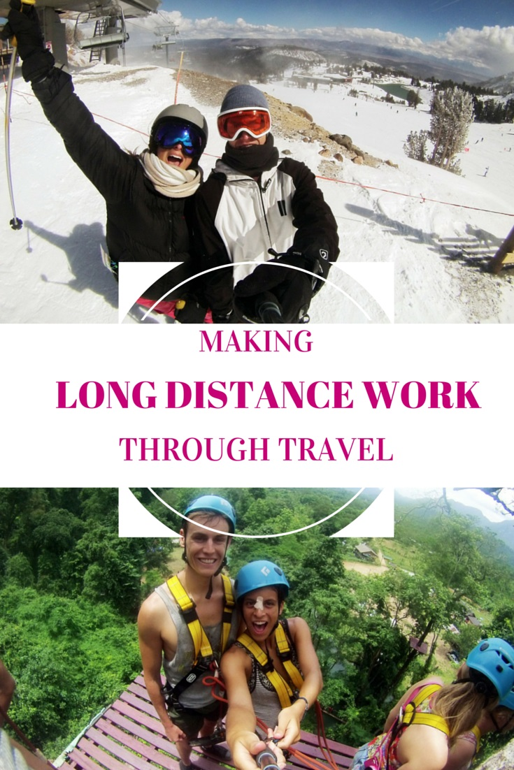 Making a long distance relationship work through travel.