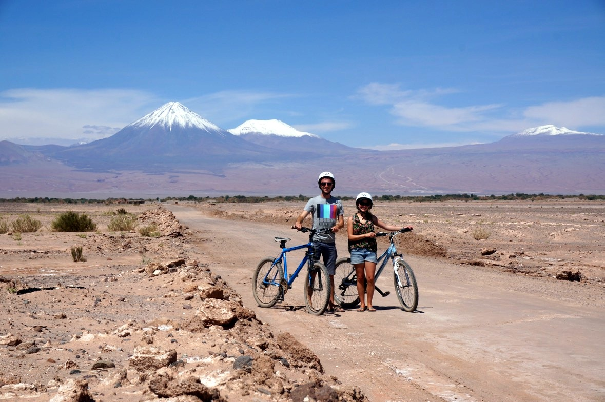 Biking the Atacama Desert in Chile.