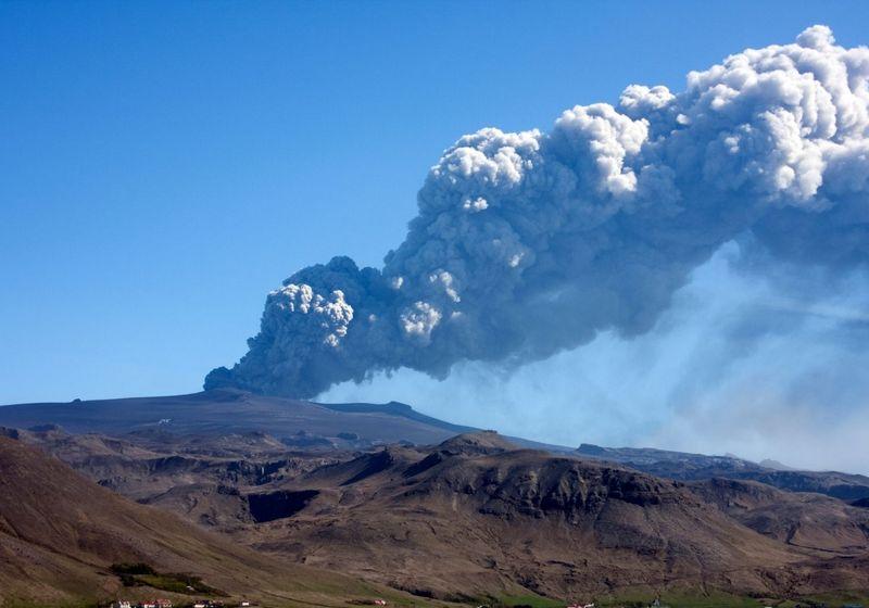 Eyjafjallajökull Iceland volcano RF