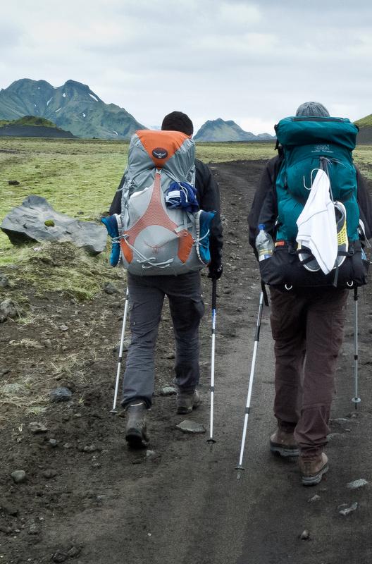 Hiking the Laugavegur Trail, Iceland.