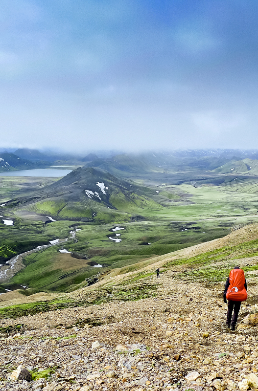 Hiking the Laugavegur Trail, Iceland.