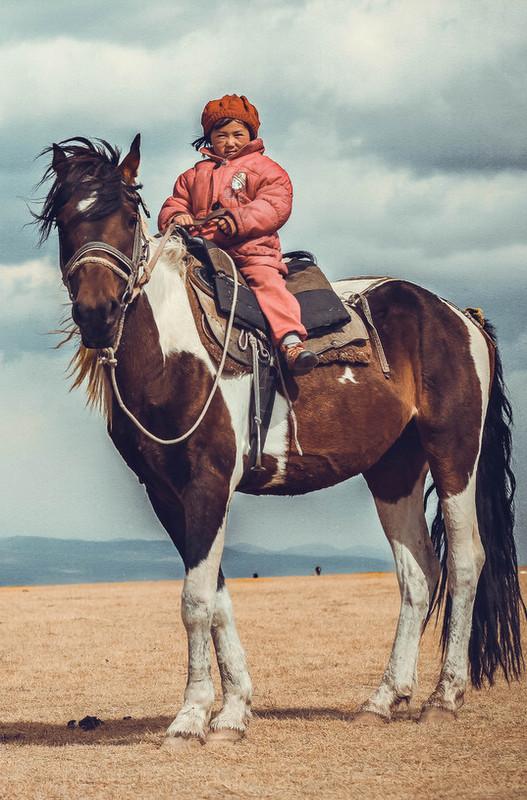 Horse Riding at Song Kul Lake, Kyrgyzstan