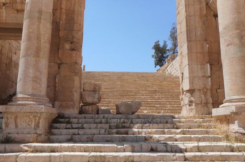 The old roman city of Jaresh, Jordan