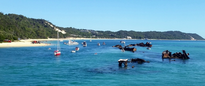 Moreton Island and the Tangalooma Shipwrecks.
